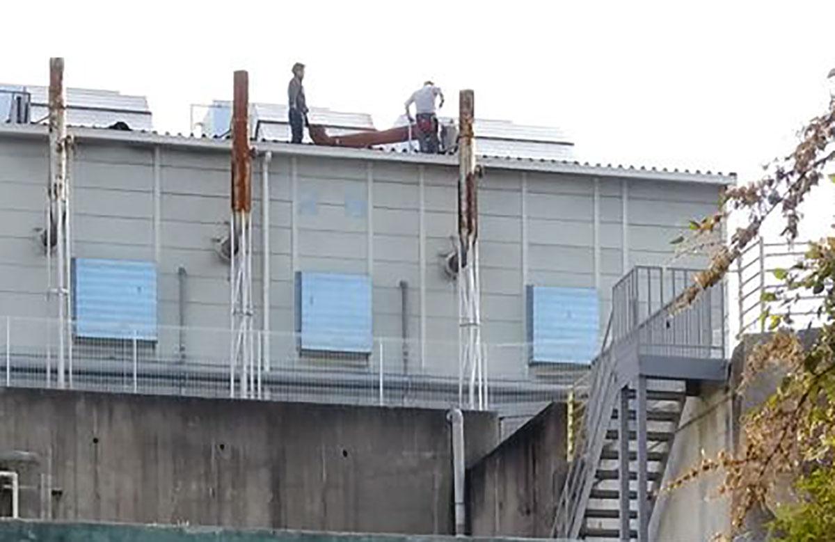 緊急事態 三恵福知山バイオマス発電所 再稼働?えんとつ工事中